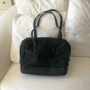 Tumi long handled briefcase bag black EUC